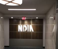 NDIA Wall Art at National WID Headquarters